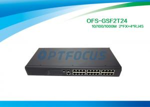 China 1310nm Single Mode Fiber Optic Switch 2 SFP 1000 BASE - Fx 24 10 / 100 / 1000 BASE - Tx on sale