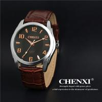 China Custom Logo Stainless Steel Caseback Wholesale Cheap Watch in China Genuine Leather Watch on sale