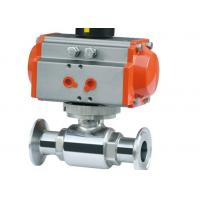 "Explosion Proof Hygienic Ball Valves , Pneumatic Operated Ball Valve 3/4"" ASME BPE"