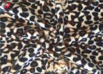 Stretching Polyester Spandex Velvet  Fabric Animal Printed Warp Knitting Fabric