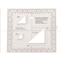 China Military Triangle Scale Protractor 11cmx11cm square set sandwich line printing for militry KMP-2 on sale