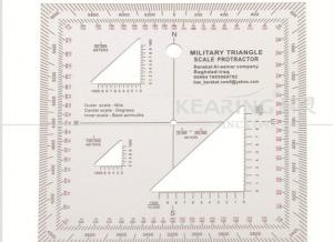 China Rigid Plastic Professional Military Triangle Scale Protractor Quality Assurance on sale