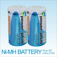 high capacity rechargeable battery NIMH SC 2700mAh