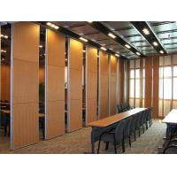 Multi Color Wood Sound Proof Partitions with Aluminium Profile / Sliding Room Dividers