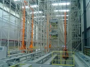 China Structural  Asrs Warehouse System  With Carton Storage Racking Style Powder Coated on sale