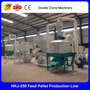 Hot sale best price 1-2t per hour poultry feed making line for