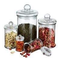 China 2500ml Spice Storage Borosilicate Wide Mouth Glass Jars on sale