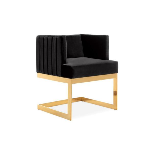 Astonishing Gold Metal Shape L Legs Simple Modern Style White Fabric Dailytribune Chair Design For Home Dailytribuneorg