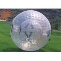 2.6m dia. transparent human roll inside inflatable zorb ball for outdoor adventure