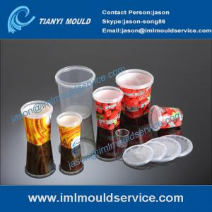 China IML food containers mould, 250g thin wall container mould with in mold labeling on sale