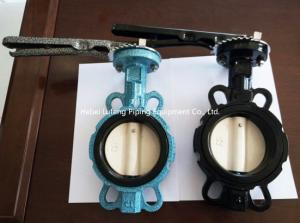 China flange connection, worm or hand dn300 butterfly valves 4 inch butterfly valve on sale