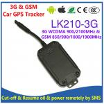 China 3G WCDMA & Quad-Band GSM Car Vehicle GPS Tracker LK210-3G Cut-off Oil & Power remotely by SMS & Free PC/APP Tracking wholesale