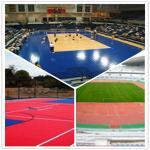 3W outdoor basketball court / suspend interlocking / pvc floor