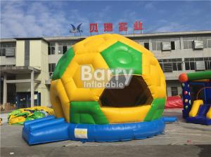 China Commercial Inflatable Football Bouncer , PVC Tarpaulin Soccer Blow Up Bounce House on sale