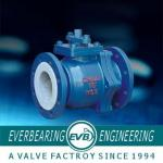 PTFE Lining Stainless Steel Ball Valve , PTFE Lined Valves