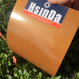 China No Pollution Metallic Orange Powder Coat Weatherability For Stainless Steel / Aluminum on sale