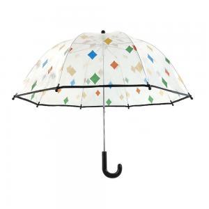 China Kid Poe / Pvc Transparent See Through Umbrella Plastic Handle Manual Control on sale