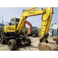 Used Hyundai R60W-7 Wheel Excavator/Used Walking Excavator Hyundai Doosan