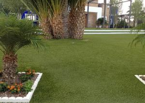 China 30mm High Dtex Outdoor Artificial Grass For Public Park Natural Looking Soft Felling on sale