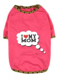 China Best Sell I Love My Mom/Dad Printed Dog Puppy Clothes Shirt Dress Pet Costumes on sale