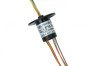 China 6 Circuits Miniature Slip Ring with Gold-Gold Contacts and Smooth Running on sale
