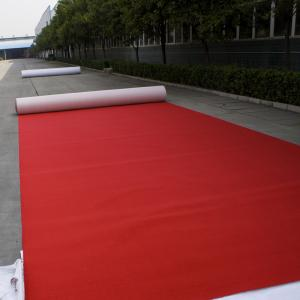 China Eaka low price loop pile pp yarn action backing wall to wall waterproof red carpet on sale