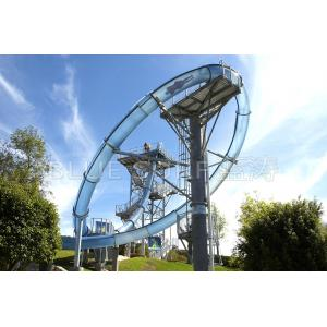 China High Speed Translucent Fiberglass Pool Slides For Water Amusement on sale