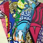 Ankara Wax Printed Cotton Cloth Full Color Smooth Stick Take Health And Safety