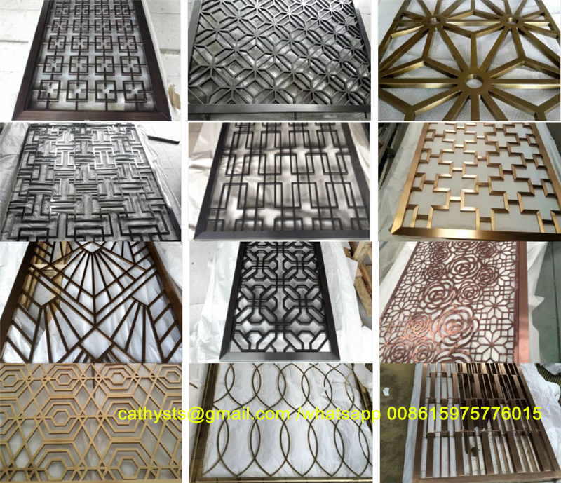 Decorative Metal Panels Laser Cut Screen Panel Stainless