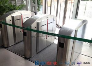 China TCP / IP Flap Turnstile Security Gate Access Control Wheelchair Lanes For Subway Doors on sale