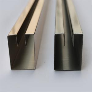 China Mirror Finish Gold Stainless Steel Trim Edge Trim Molding 201 304 316 for wall door ceiling decoration on sale