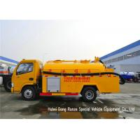 DFAC 3500L-5000L Fecal Sewage Suction Tanker Truck With Hydro Jet Plumbing