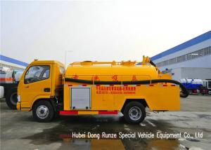 China DFAC 3500L-5000L Fecal Sewage Suction Tanker Truck With Hydro Jet Plumbing on sale