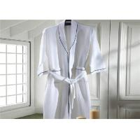 Eco Friendly Waffle Hotel Towel Set / Kimono Collar Soft Cotton Bathrobe