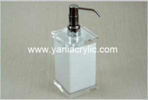 China Customized Liquid Acrylic Soap Dispenser / Elegant Soap Dispenser Bottle on sale