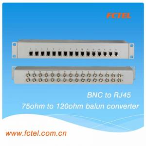 China 16 Channels 75 Ohm BNC To 120 Ohm RJ45 E1 Impedance Balun Converter on sale