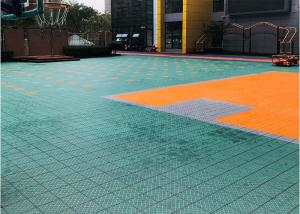 China Non Toxic Outdoor Sports Flooring Multicourt Suitable Anti Parasites Bacteria on sale