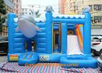China Blue Color Waterproof Kids Jumping Castles / Inflatable Water Slide wholesale