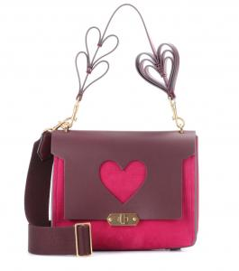 China Heavy Discount Fuchsia Leather Shoulder Bag Heart Bags Article Heart Design Strap Unique Handbag with Hard Shape Small on sale