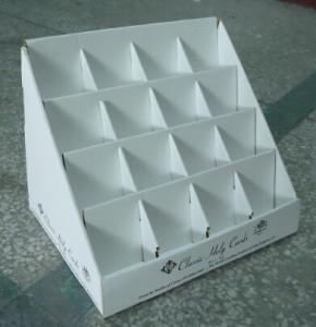 China Greeting cards custom counter display boxes white color offset printing on sale