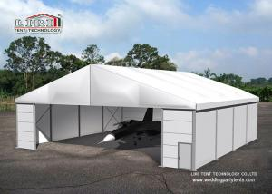 White Color Permanent Relocatable Aircraft Hangars 25 X 50