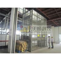 Electric guide rail hydraulic warehouse cargo lift / Outdoor lift elevators
