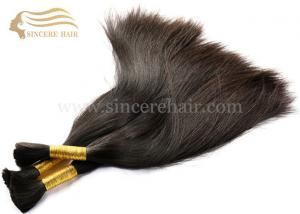 China Hot Sell 22 Inch Hair Bulk Extension for Sale - 55 CM Natural Brazilian Virgin Human Hair Bulk Extensions for sale on sale