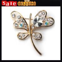 Crystal Scarf Brooch Rhinestone Jewelry Brooch Pin Bridal Wedding Crystal Animal Dragonfly