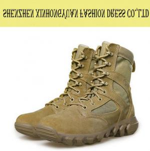 China Comfortable Vintage Military Tactical Boots , Beige Tactical Desert Boots on sale