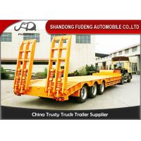 60T - 80T Lowboy Semi Trailer For Carrying Steel Coil , Carbon Steel Lowboy Trailer