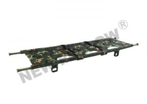 China Camouflage Four Folded Folding Stretcher With Flexible Nylon Handles on sale