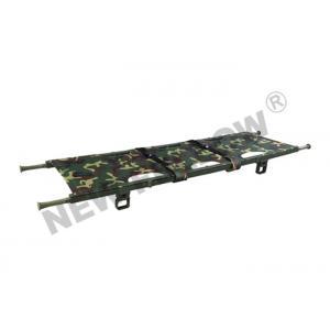 China Camouflage Four Folded Folding Stretcher With Flexible Nylon Handles on sale