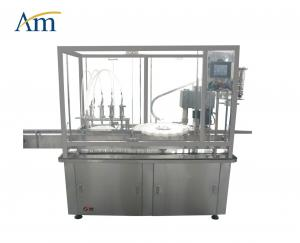 China SS Four Heads Liquid Filling And Capping Machine Syrup Production Line on sale