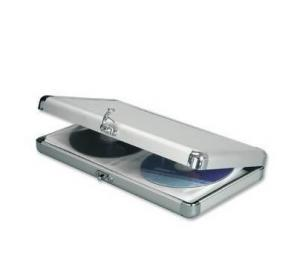 China Customized Logo Aluminium Cd Storage Case , Cd Dvd Holder Case With Detachable Lid on sale